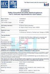 CE인증시험성적서 온실전용히터1000w이상